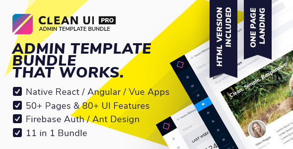 Download Free] Clean UI Pro Bundle — React / Angular / Vue