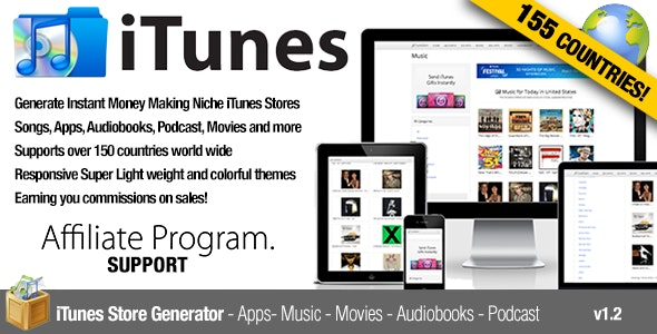 Download Free] iTunes Affiliate Apps Music Movies Chart