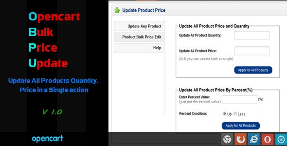 Download Free] Opencart Bulk Price Update Nulled