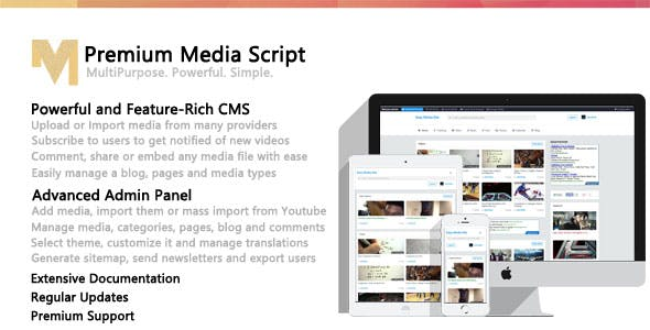 Download Free] Premium Media Script Nulled