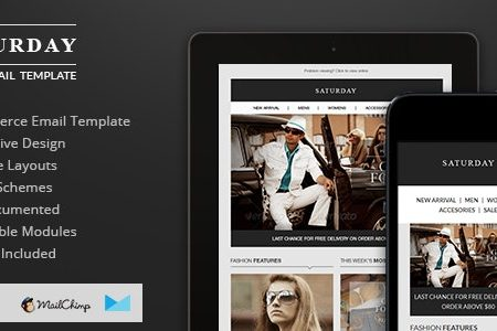 Download Free] Saturday - E-Commerce Responsive Email