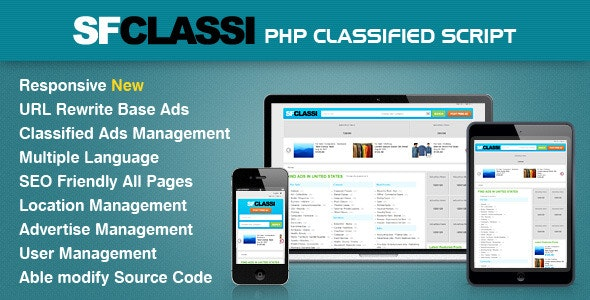 Download Free] SfClassi Responsive PHP Classified Script Nulled