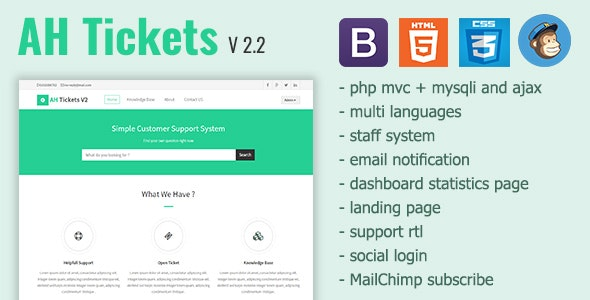 Download Free] AH Tickets - Help Desk and Support System Nulled