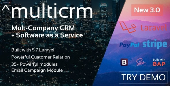 Download Free] Multicrm - Powerful Laravel CRM + Landing Page Nulled