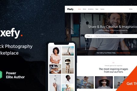 Download Free] Pixefy | Stock Photography Marketplace Theme