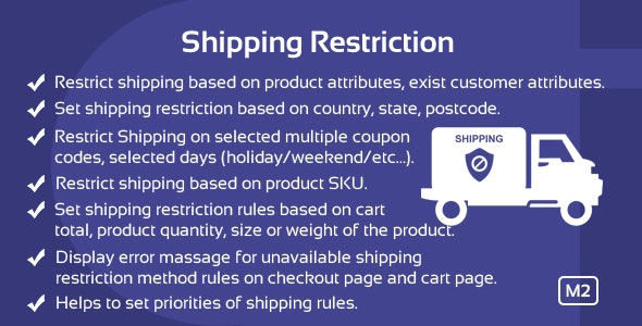 Download Free] Shipping Restrictions Magento 2 Extension Nulled