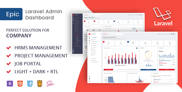 Download Free] Epice Laravel - Admin Template for HR