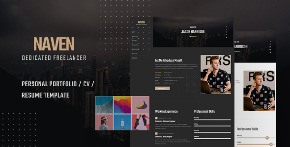 free download naven   cv    vcard template nulled latest